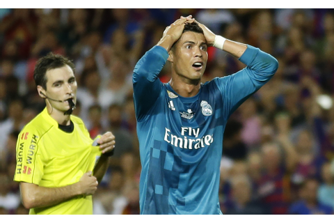 Real Madrid's Cristiano Ronaldo banned 5 games for pushing ...