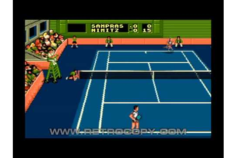 Sampras Tennis 96 (Sega Genesis / Mega Drive) Intro - YouTube