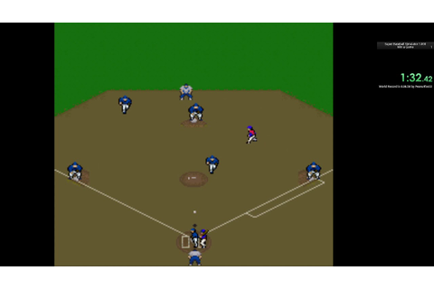 Super Baseball Simulator 1.000 - Speedrun - Win a Game - 3 ...