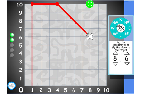 Coordinate Grid Plane Game (first quadrant) http://www ...