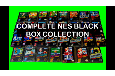 Nintendo NES Black Box Collection 30 Games & GBA NES ...