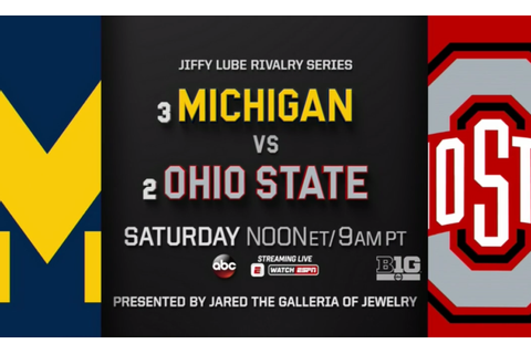 Rivalry Week: No. 3 Michigan at No. 2 Ohio State Headlines ...