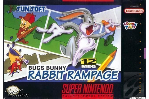 Bugs Bunny In Rabbit Rampage ROM - Super Nintendo (SNES ...
