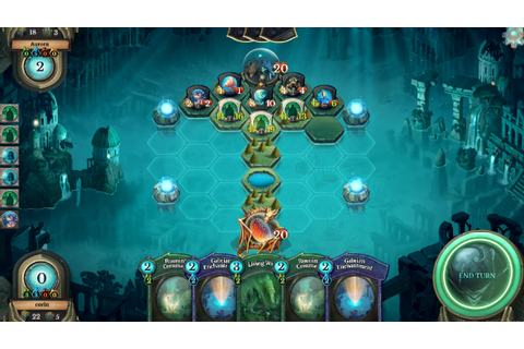 Faeria is a strategic card game where the board actually ...