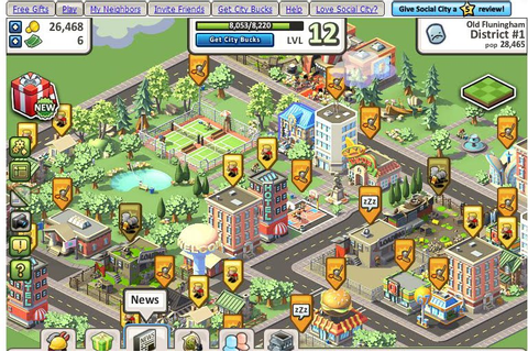 Best Facebook Games: Social city