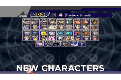 Project M 3.0 Character Select Screen : smashbros