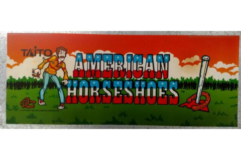 "Vintage ""American Horseshoes"" Arcade Video Game Marquee by ..."