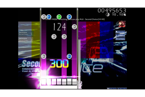 [Osu! Mania] Second choice (EZ2DJ) [7K HD] [ DT ] - YouTube