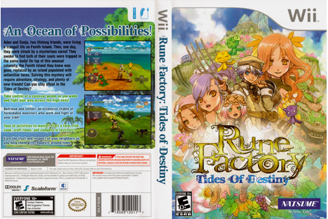 Games Covers: Rune Factory - Tides of Destiny - Wii