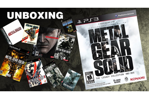 Metal Gear Solid the legacy collection 1987-2012 Unboxing ...