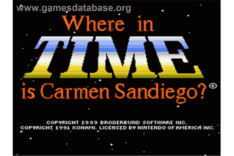 Where in Time is Carmen Sandiego - Nintendo NES - Games ...