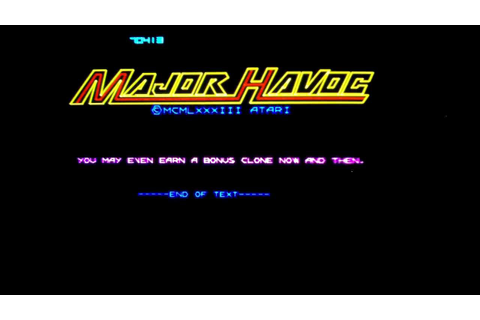Major Havoc vector arcade game by Atari (1983). - YouTube