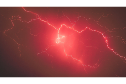 red, Lightning, Sky, Storm Wallpapers HD / Desktop and ...