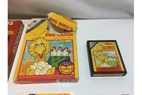 Atari 2600 Boxed Game Big Bird's Egg Catch CL 11545492168 ...