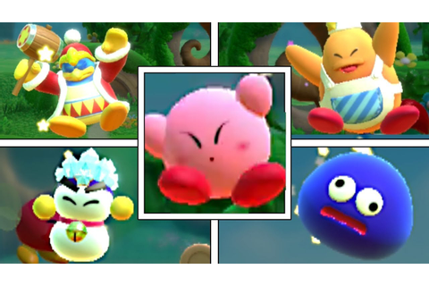 Kirby Star Allies: All Kirby's Friends Deaths & Game Over ...