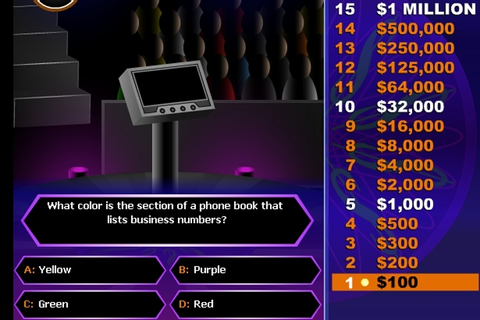 Who Wants To Be A Millionaire 2 Game - Movie & TV games ...