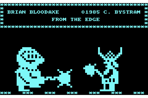 Brian Bloodaxe (1985) by The Edge Amstrad CPC game