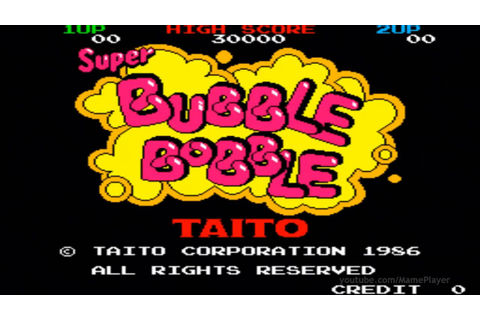 Super Bubble Bobble 1986 Taito Mame Retro Arcade Games ...