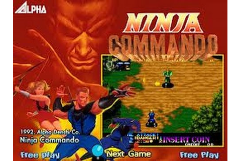 Ninja Commando (Arcade) - YouTube