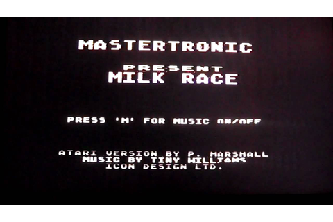milk race game music atari - YouTube