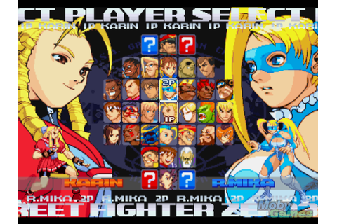 Street Fighter Alpha 3 Character Select Screen | Character ...