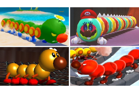 Evolution of - Wiggler in Super Mario Games - YouTube