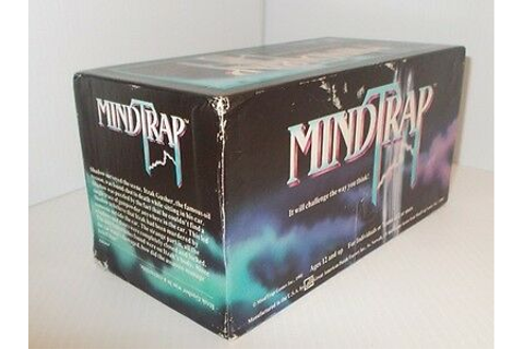 1991 MindTrap Adult Party Game Mind Trap trick questions ...