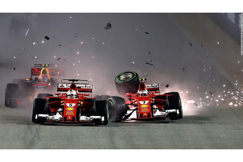F1: Hamilton extends title lead as Vettel crashes out at ...