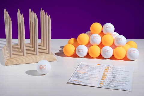 Bounce Battle: Versatile skill game with ping pong balls.