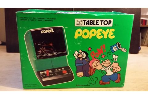 Nintendo Game & watch Popeye Table Top 1983 boxed - Catawiki
