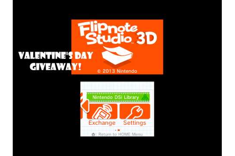 Flipnote Studio 3D Valentine's Day Giveaway - YouTube