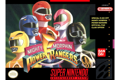 Mighty Morphin Power Rangers Super Nintendo SNES Game For Sale