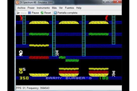 Bobby Burgers & Barmy Burgers - ZX Spectrum - emulador ...