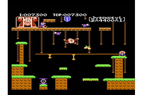Donkey Kong Jr - Nes - Full Playthrough ( Game A Game B ...
