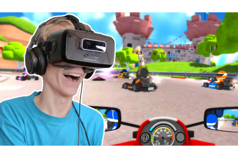 MARIO KART IN VIRTUAL REALITY!? | VRKarts (Oculus Rift DK2 ...