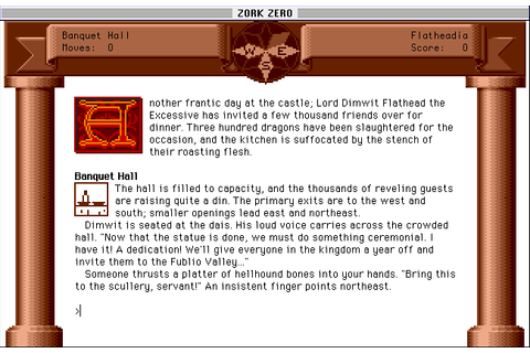 Zork Zero: The Revenge of Megaboz (1988) by Infocom Mac OS ...