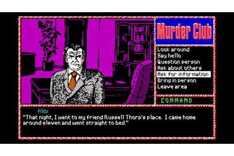 J.B. Harold Murder Club (DOS) Gameplay - YouTube