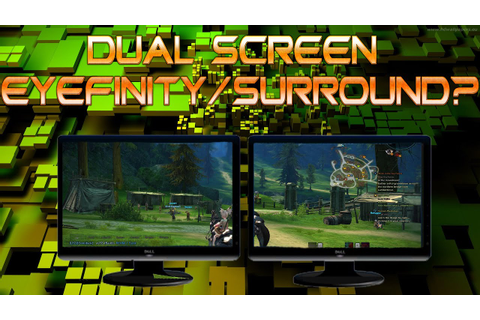 Can You Game with Eyefinity/Surround on 2 Monitors ...