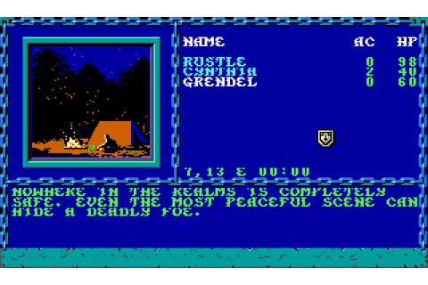 Curse of the Azure Bonds (1990) by Micro Magic Amiga game