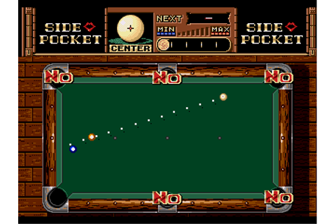 Side Pocket - Download - ROMs - Sega Genesis/Sega ...