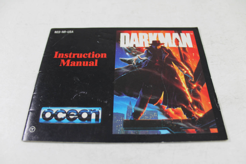 Manual - Darkman - Dark Man Nes Nintendo