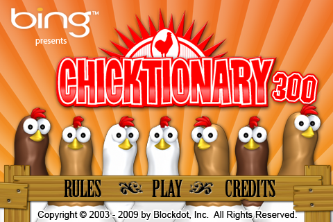 Chicktionary 300 Games Educational Entertainment Word free ...