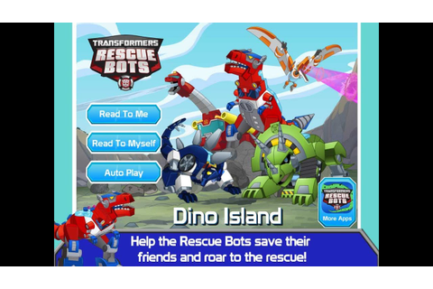 Transformers Rescue Bots Games - Dino Island - Kid ...