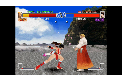Fatal Fury: Wild Ambition [PS1] - play as Geese Howard ...