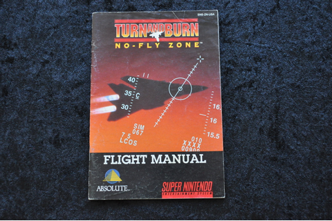 Turn And Burn No Fly Zone Nintendo Snes Manual - Standaard
