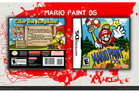 Mario Paint DS Nintendo DS Box Art Cover by Mariolee