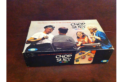 Chop Suey Vintage Ideal Board Game circa 1967 complete by ...