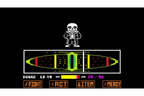 Undertale (Genocide Route) \ Sans battle unique Game Over ...