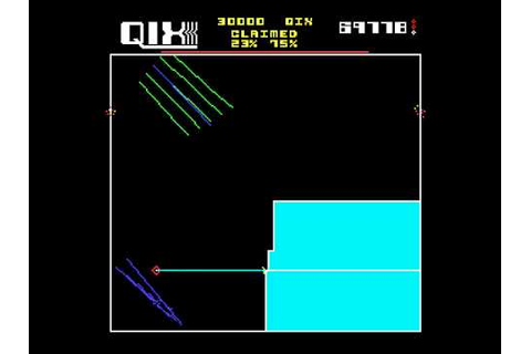 Arcade Game: Qix (1981 Taito) - YouTube