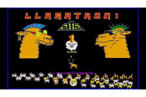 DOS Game: Llamatron - 2112 - YouTube